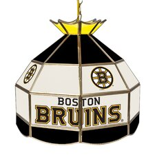 NHL Stained Glass 1-Light Bowl Pendant