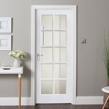 10 Panel White Glazed Internal Door