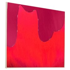 Abstract Watermelon Drip Framed Graphic Art