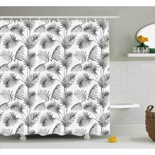 Applecroft Palm Leaf Botanic Island Shower Curtain