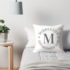 Personalized Circle Family Name and Year Throw Pillow