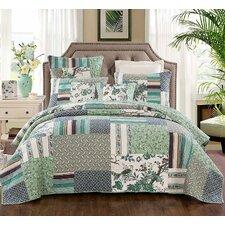Beachworth Cotton Floral Patchwork Quilt