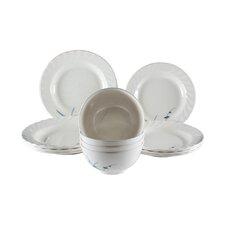 Bridgham Bamboo Melamine 12 Piece  Dinnerware Set, Service for 4