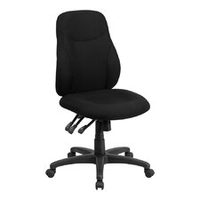 Multi-Functional Ergonomic Black Mid-Back Desk Chair