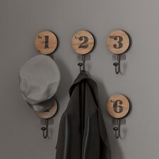 Decorative Numbered Wall Hook (Set of 6)