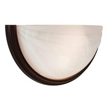 Crest 2-Light Wall Sconce with Alabaster Glass