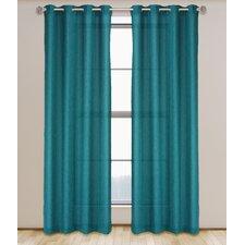 Maestro Solid Semi-Sheer Grommet Curtain Panels (Set of 2)