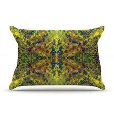 Nikposium 'Yellow Jacket' Abstract Pillow Case