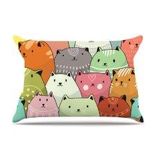 Snap Studio 'Kitty Attack' Cat Illustration Pillow Case