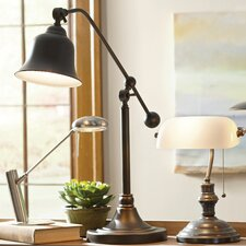 """Reitman 37.5"""" Desk Lamp with Bell Shade"""