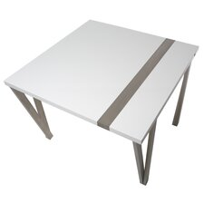 Eve High-Gloss Lacquer and Brushed Stainless Steel Pub Table