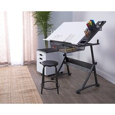 Fusion Craft Leaning/Ladder desk Table and Stool Set