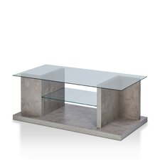 Quaid Contemporary Coffee Table with Magazine Rack