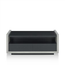 Maryl Contemporary Coffee Table with Magazine Rack