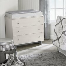 Maple Lane Dove 3 Drawer Dresser Combo