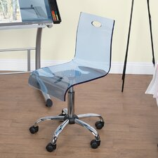 Lucent Acrylic Mid-Back Desk Chair