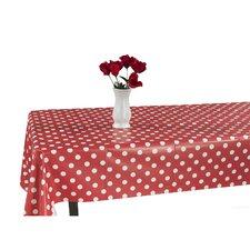 Essential Vinyl Polka Design Indoor/Outdoor Tablecloth