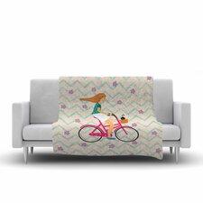 Cristina Bianco Design Bicycle Ride Fleece Throw