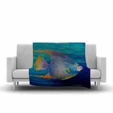 Carol Schiff Tropical Fish II Painting Fleece Throw