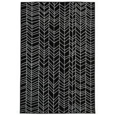 Bunger Lines Black/White Area Rug