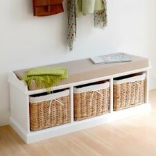 Laurentides Wood Storage Entryway Bench