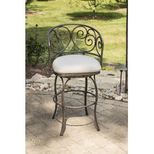 "Houghton 30"" Swivel Indoor/Outdoor Bar Stool with Cushion"