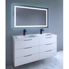 Contemporary Illuminated LED Bathroom Mirror