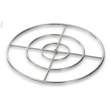 Triple Stainless Steel Fire Pit Ring Burner (Set of 6)