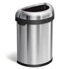 Semi Round Open Heavy Gauge Steel 21.13 Gallon Trash Can