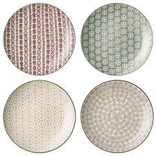 "10"" Ceramic Dinner plate 4 Piece Set"