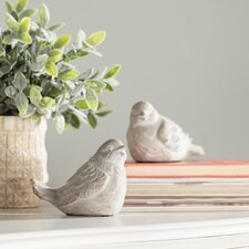 2 Piece Bird Statue Set