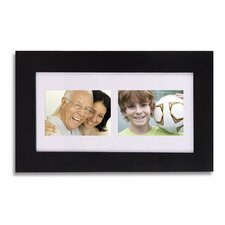 2 Opening Wood Wall Hanging Picture Frame with Mat