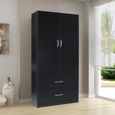 Wardrobe with Two Doors in Black