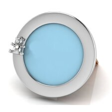 Sterling Silver Round Teddy Picture Frame