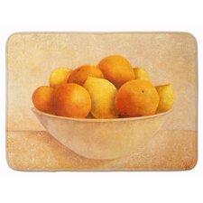 Oranges and Lemons in a Bowl Memory Foam Bath Rug