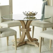 """Montcerf 54"""" Round Glass Dining Table"""