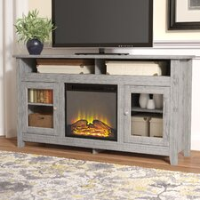 "Isabel Highboy 58"" TV Stand with Electric Fireplace"