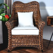 Averi Indoor/Outdoor Rattan Heart Shape Chair with Cushion