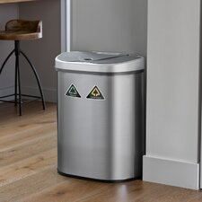 Nine Stars 18.5 Gallon Motion Sensor Multi-Compartments Trash & Recycling Bin
