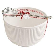 Circa Holiday 2 Piece Ceramic Mixing Bowl Set