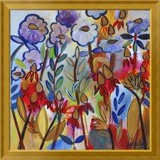'Golden Drops' Framed Print on Canvas