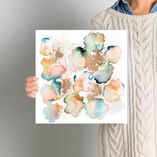 Rose Gold Garden Painting Print on Wrapped Canvas