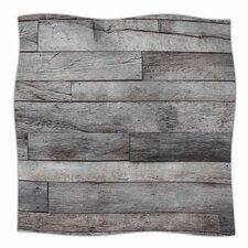 Susan Sanders Rustic Wood Photography Fleece Throw