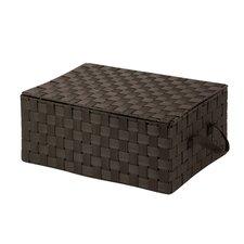 Hinged Lid Woven Storage Box