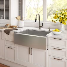 "Stainless Steel 29.75"" x 20"" Farmhouse Kitchen Sink with NoiseDefend™ Soundproofing"