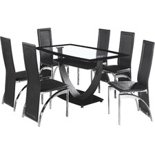 Essgruppe Norfolk mit 6 Stühlen