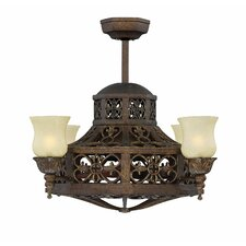 "14"" Naples 4-Light Shaded Chandelier"