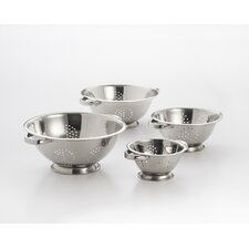 4 Piece Stainless Steel Colander Set