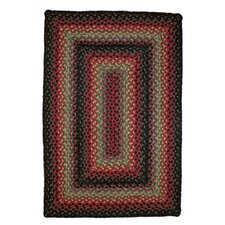 Oklahoma Braided Red / Black Indoor/Outdoor Area Rug