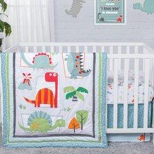 Dinosaur Roar 3 Piece Crib Bedding Set